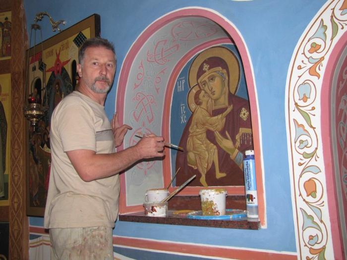Фото росписей храм